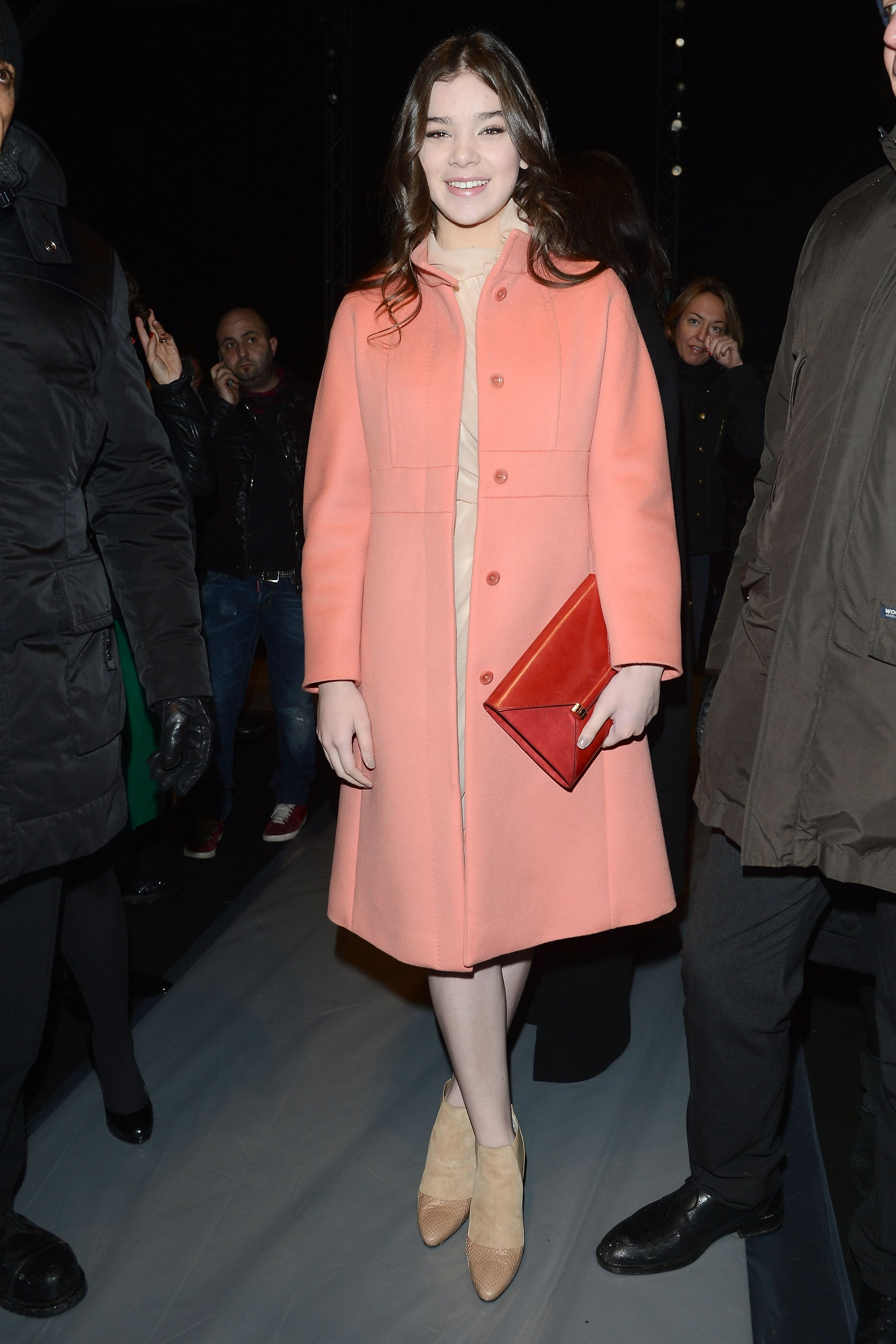 Hailee Steinfeld wore Max Mara at the Max Mara Fall 2013 show in Milan.