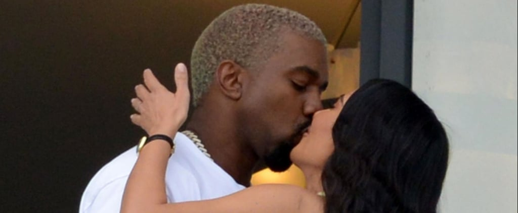 Kim Kardashian and Kanye West Kissing in Miami Jan. 2019