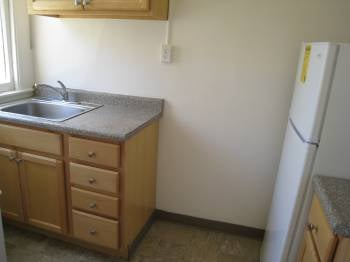 Don't be fooled by the granite counter tops and light-colored cabinets. This is a newly remodeled kitchen that does not have a dishwasher! It's 2010, who remodels a kitchen and doesn't put in a dishwasher?