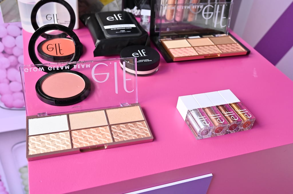 e.l.f. (which stands for eyes, lips, face) is all about embracing makeup and skin care as self-care — which we are totally on board for. Because when your look is fire, you feel like a million bucks, amirite? Guests were treated to mini makeovers that focused on e.l.f.'s main beats — eyes, lips, and complexion — and were personalized to each guest's style.