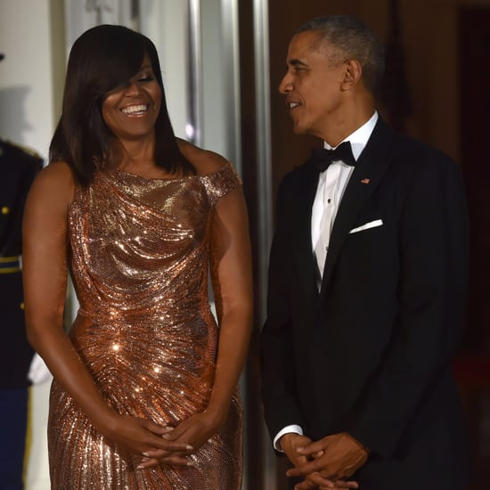 Barack and Michelle Obama at Last State Dinner October 2016