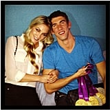"In August, Megan Rossee Instagrammed a photo of her with Michael Phelps and his gold medals, saying, ""Yay Michael."" Source: Instagram user MeganRossee"