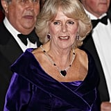 Camilla's amethysts Although the origin of Camilla's amethyst earrings isn't known, the amethyst heart necklace was a wedding present from Queen Alexandra to the Queen Mother, and appears to have been gifted to Camilla by the Queen at some point.