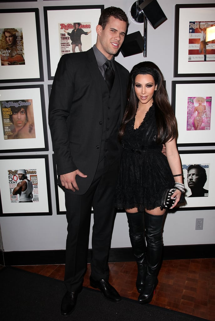 Kim was on hand to support her then-new boyfriend, basketball player Kris Humphries, at the NBA All-Star weekend party in LA in February 2011.