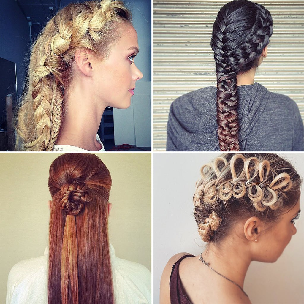 Enjoyable Easy Braided Hairstyles Instagram Popsugar Beauty Short Hairstyles Gunalazisus