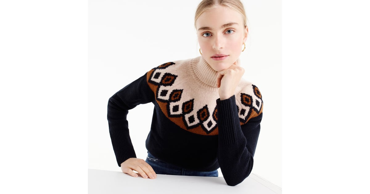J.Crew Fair Isle Turtleneck Sweater | Cozy Holiday Fashion Gifts ...