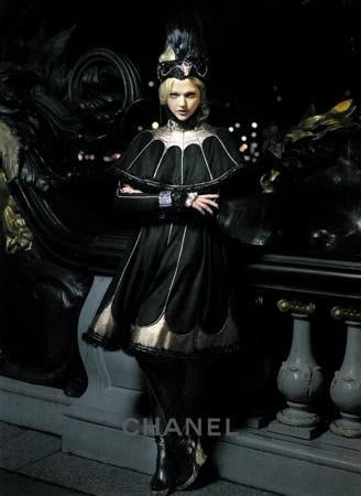 Sasha Pivovarova Models in Chanel's Russian-Inspired Pre-Fall 2009 Ads
