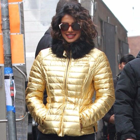 Priyanka Chopra's Gold Puffer Jacket
