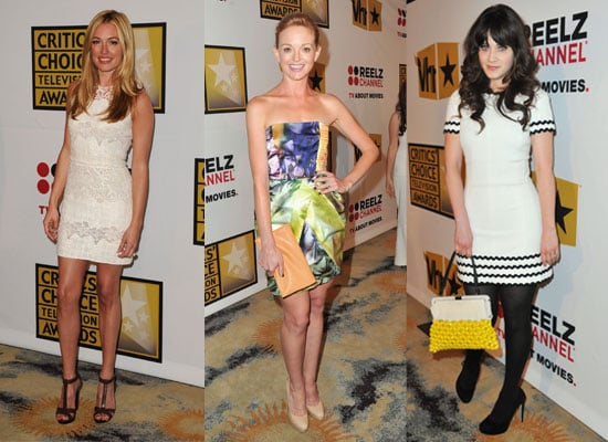 Pictures of Celebrities at the 2011 Critics Choice TV Awards, Including Courtney Cox, Jayma Mays, Zooey Deschanel