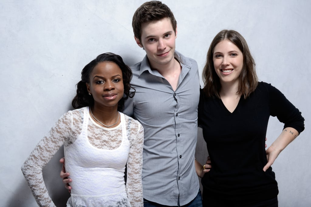 Milkshake stars Shareeka Epps, Tyler Ross and Georgia Ford posed arm in arm at the film festival studio.