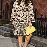 Instead of wearing your leopard top with a neutral, pair it with more leopard . . . and then a little more! The trick is to keep all the prints in the same color family (I say go classic) and play with different scales. This large-scale chunky sweater (available in sizes XXS-XXL) paired with a small scale leopard skirt(available in sizes 00-16) has a flirty French-girl quality cool girls love. Add leopard heels and the final look is matchy-matchy yet slightly off-kilter in a way that really works! Shop the look: sunglasses, heels (size 33 - 45), clutch