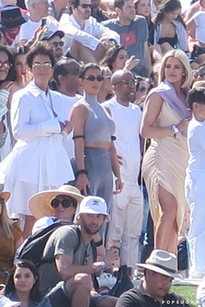 "Some people spend Easter hunting for eggs or opening baskets from a bunny dressed in pastels, but the Kardashian-Jenners celebrated their morning at Coachella watching Kanye West's Sunday Service. Kris, Kim, Khloé, Kourtney, Kendall, and Kylie gathered with their respective families in Indio, California on April 21 for Kanye's highly-anticipated show in complementary outfits.  ""Matching outfits with mom!"" Kim said in an Instagram video with her and Kanye's daughter, North West. Kim's 5-year-old is a frequent star in Kanye's private Sunday Service performances, and regularly shows off her dance moves for the crowds. Her love of the spotlight is no surprise with two celebrity parents. Hope she got to share her moves at Coachella, too!  Keep reading to see more photos from the whole family's Easter celebration — it's not what you'd usually expect."