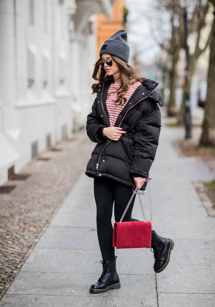Keep Cozy in Tights and a Puffer