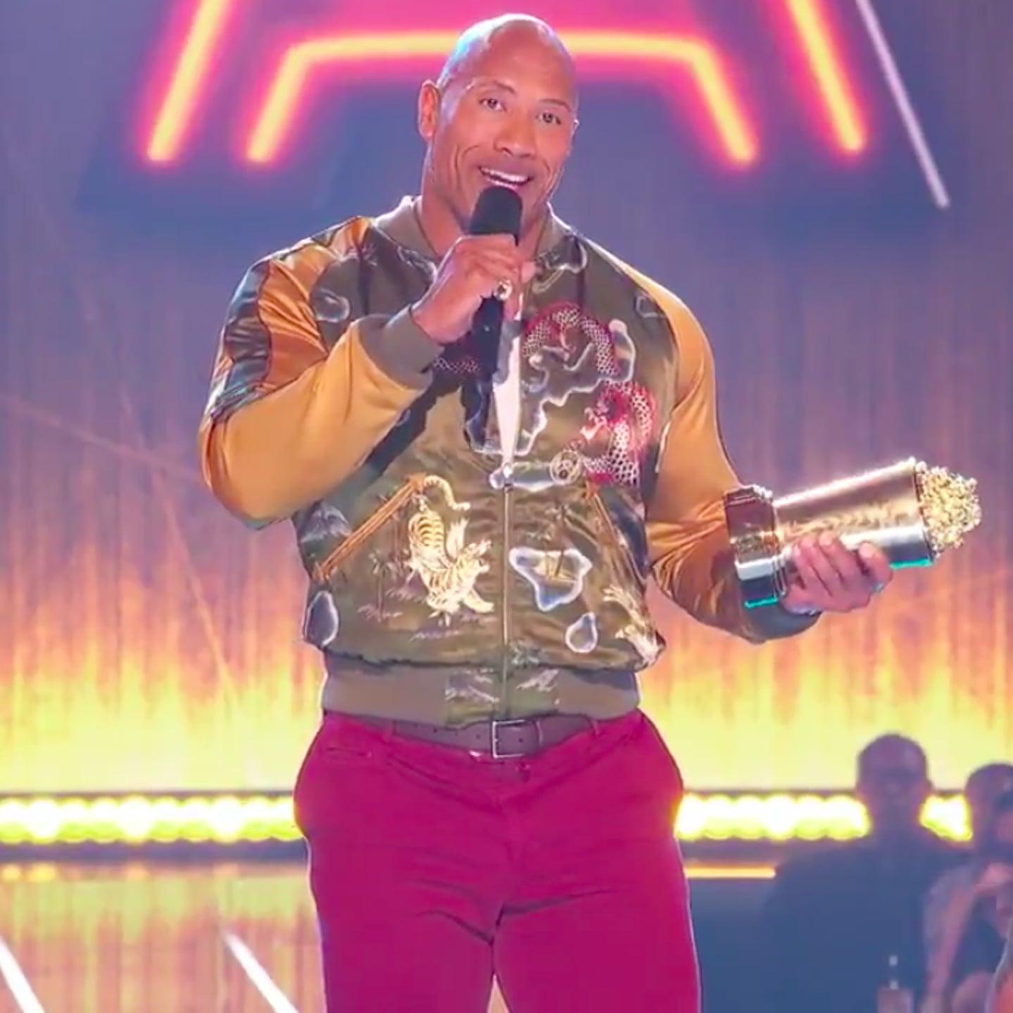 Dwayne Johnson's Acceptance Speech at 2019 MTV Awards Video