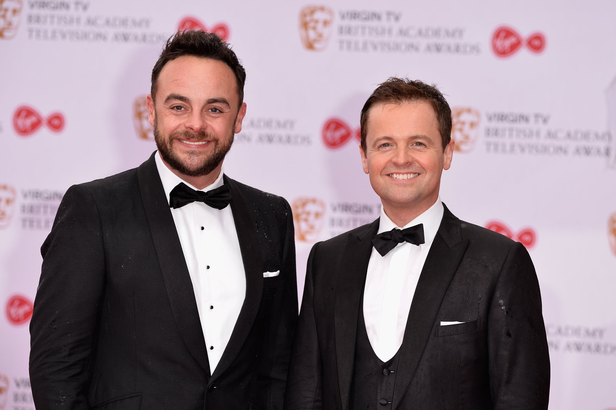 LONDON, ENGLAND - MAY 14:  Anthony McPartlin (L) and Declan Donnelly aka Ant and Dec attend the Virgin TV BAFTA Television Awards at The Royal Festival Hall on May 14, 2017 in London, England.  (Photo by Jeff Spicer/Getty Images)