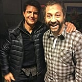 Judd Apatow stopped by the Late Show With Jimmy Fallon along with Tom Cruise. Source: Twitter user JuddApatow