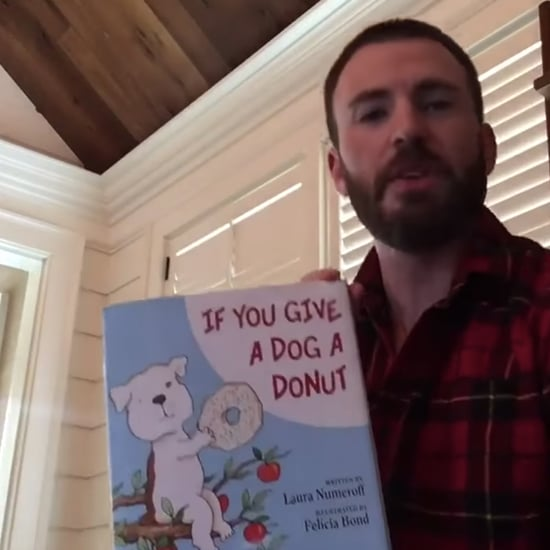 Chris Evans Reading If You Give a Dog a Donut Kids' Book