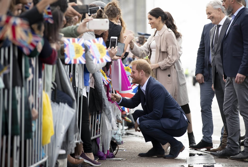 "During Prince Harry and Meghan Markle's royal tour, there have been a number of touching moments the two have shared with fans. Meghan has comforted a crying boy while Harry has shared a personal conversation with a woman who lost her husband. Harry's recent interaction with a 6-year-old boy is yet another example of how kind the royal duo truly is. While on a public walk at Viaduct Harbour in Auckland, New Zealand, on Oct. 30, the Duke of Sussex made a special effort to talk to the young boy named Otia Nante. Harry found out that Otia lost his mother to suicide and gave him a few words of encouragement. ""Life will always be all right. You know that?"" Harry said. ""I've made it to 34 years old and life is great. I have a beautiful wife and a baby on the way. Your life is going to be sorted. Don't you worry about that.""      Related:                                                                                                           10 Moments From Harry and Meghan's Tour That Show They're Going to Make the Best Parents               Harry is certainly familiar with the feeling of loss at such a young age. He was just 12 years old when his mother, Princess Diana, died in a car crash. Harry has previously opened up about losing his mother, admitting that he wished he didn't hide his grief for so long. ""I really regret not talking about it,"" he said in an interview with BBC News. ""It is OK to suffer, but as long as you talk about it. It is not a weakness. Weakness is having a problem and not recognising it and not solving that problem.""  Clearly, Harry is using his experience to help young Otia get through a tough time, and it's purely heartwarming. See more pictures of Harry and Meghan meeting fans at Viaduct Harbour ahead."
