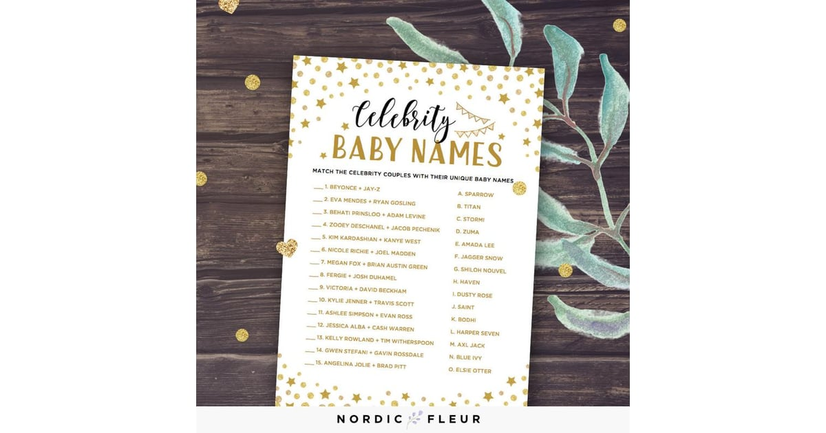 45+ Celebrity baby names game 2019 ideas