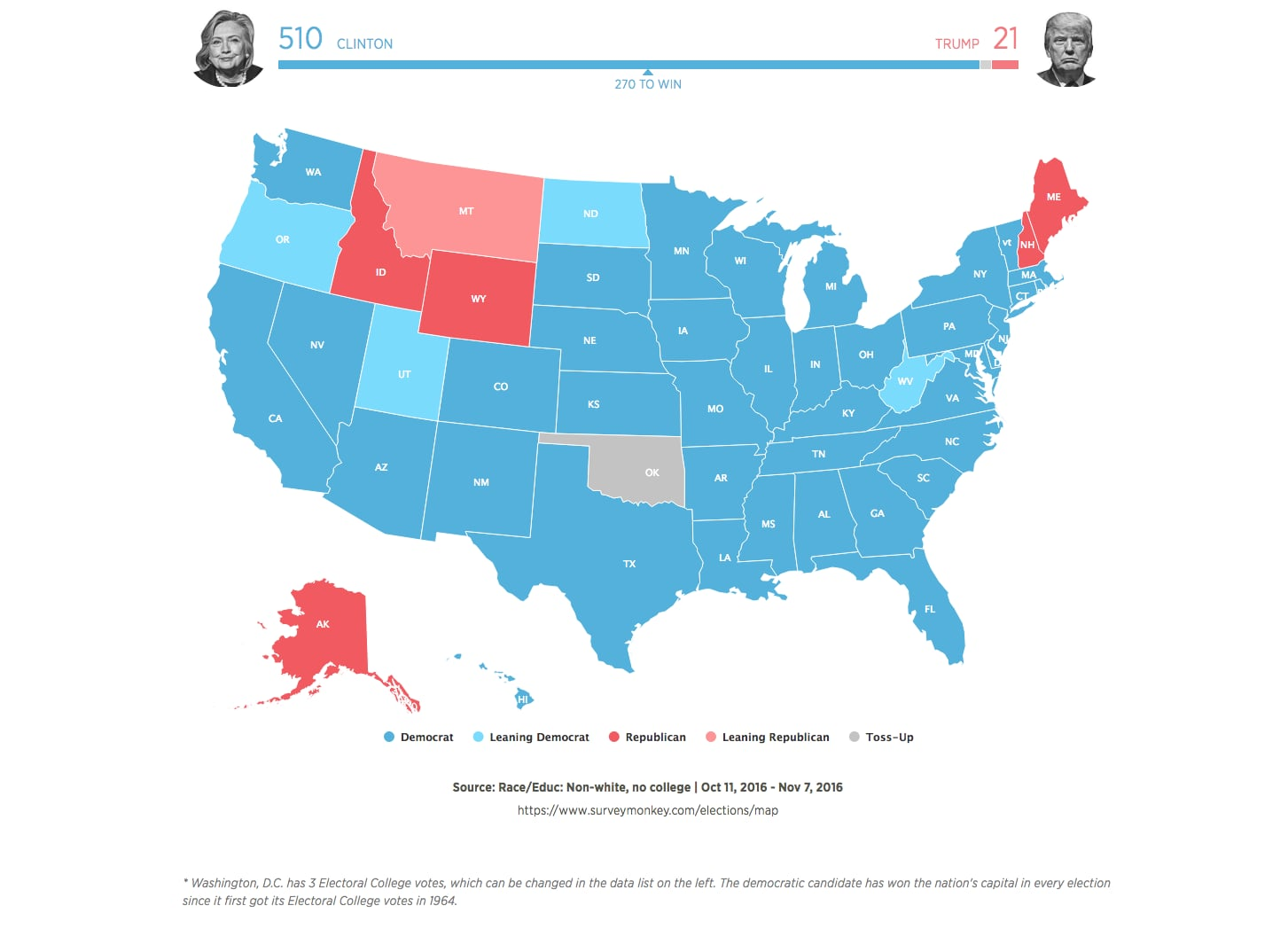 How Many Millennials Voted For Hillary Clinton In POPSUGAR - Map of us who voted for trump