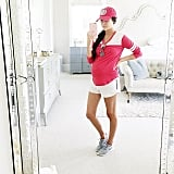 A Long-Sleeved Tee, Shorts, Sneakers, and a Cap
