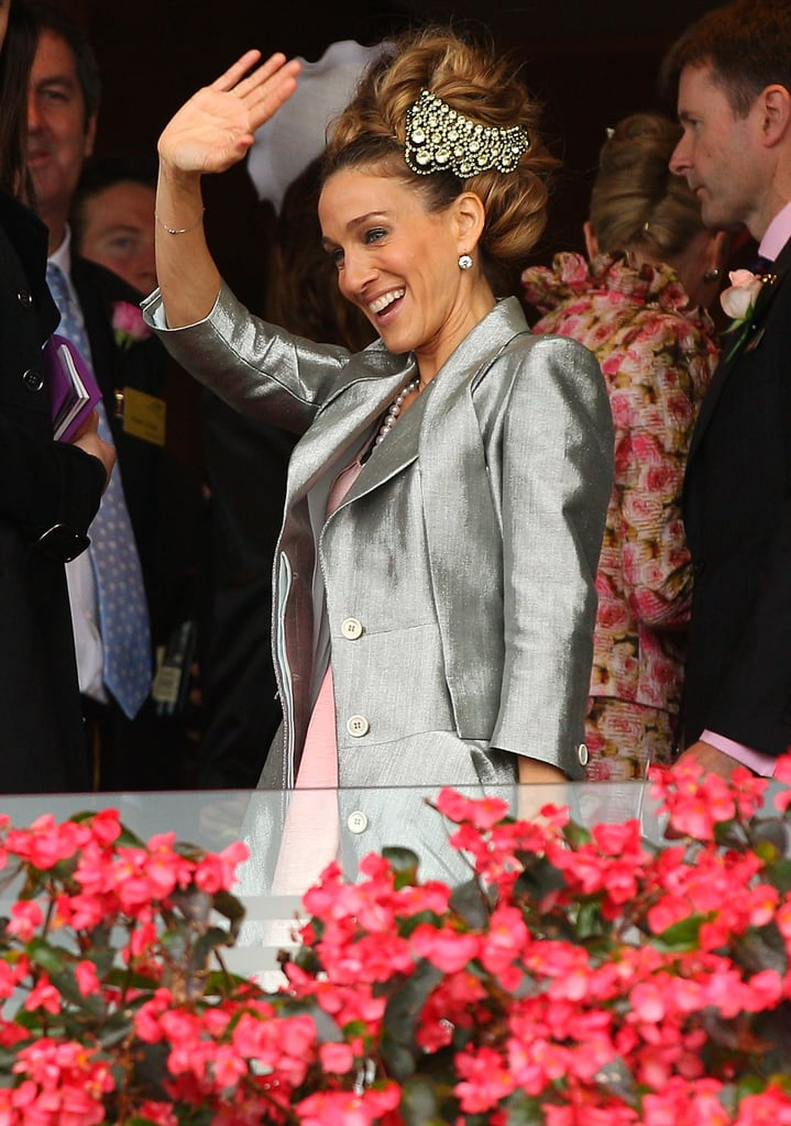 Sarah Jessica Parker waved from the Crown Box in Melbourne.