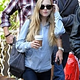Amanda Seyfried spent the day in NYC with her boyfriend, Desmond Harrington.