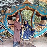 Neda, a girl Garfors met in Iran, wanted to marry him. He declined but agreed to have their photo taken dressed up as a royal couple.