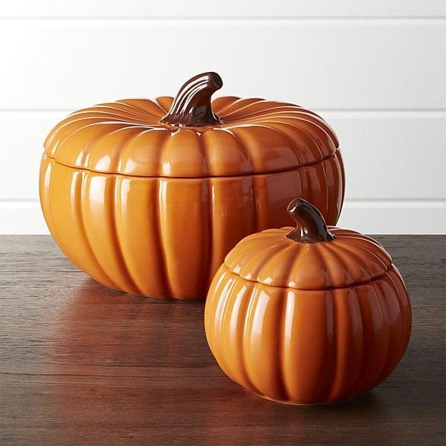 Pumpkin Serving Bowls with Lids ($7)