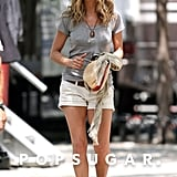 Jennifer Aniston even stuck to her Stuart Weitzman crochet wedges back in 2009 on the set of The Bounty, where she worked them with a gray tee and white shorts.