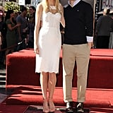 Gwyneth's Glee costar Matthew Morrison was on hand to help celebrate her Hollywood Walk of Fame star ceremony in December 2010.