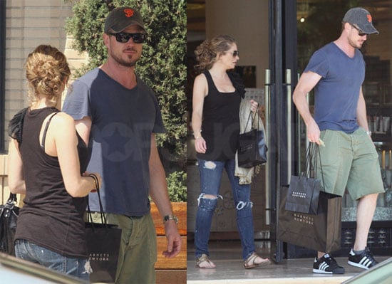 Photos of Pregnant Rebecca Gayheart and Eric Dane Shopping
