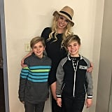 In December 2015, Britney shared a sweet photo of herself with her two boys in Vegas.