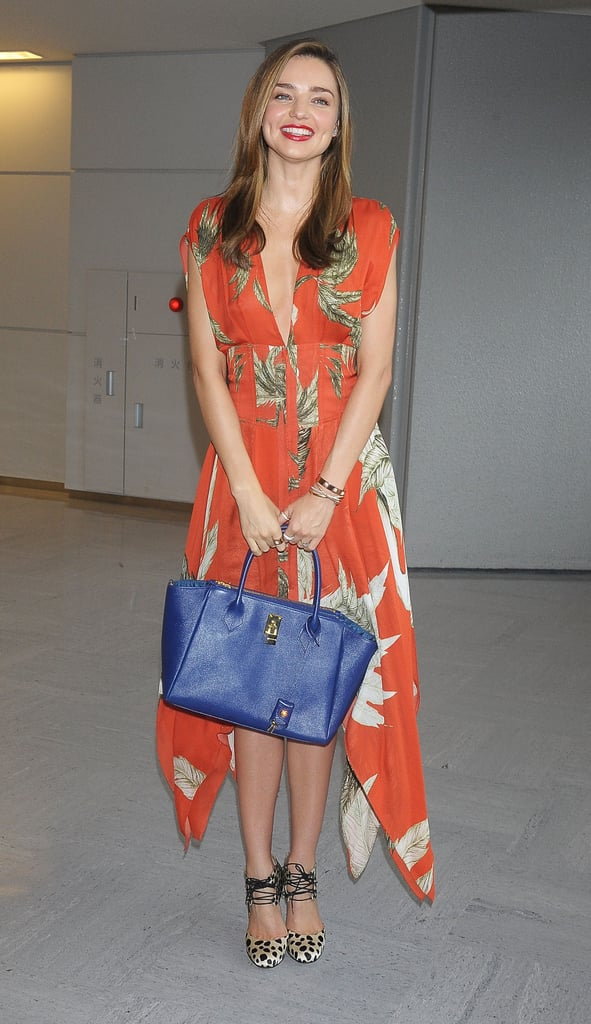 Miranda Kerr arrived in Tokyo last Thursday.