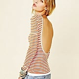 Striped and backless? Sign us up.  Free People Striped Low Back Top ($48)