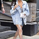 Kim Kardashian Wears See-Through Boots