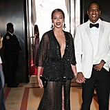 The couple held hands as they made their way into the Met Gala.