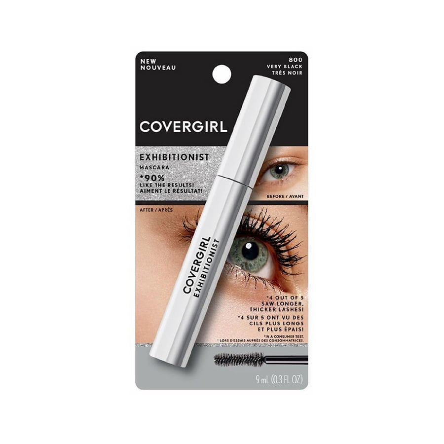 "In my opinion, CoverGirl will always have the best ""under $15"" mascaras, and its newest formula only reinforces that belief. Exhibitionist ($10) is equal parts volumizing and lengthening, which is exactly what I look for in a formula. Plus, it's flake-free — perfect for my sensitive eyes."