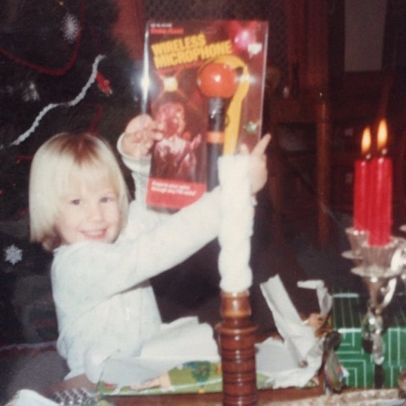 """""""#tbt to the Christmas I received my first microphone. #ironicthatkaraokenowgivesmenightmares #tearsforfears"""""""