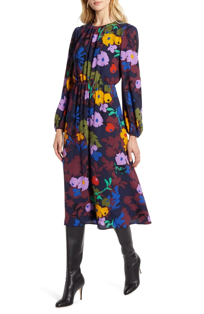 Halogen Long-Sleeve Dress