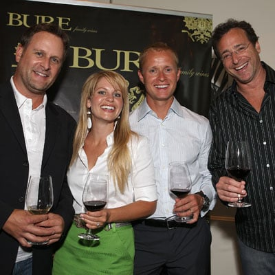 Dave Coulier, Valeri Bure, Bob Saget and Candace Cameron Drink Bure Wines