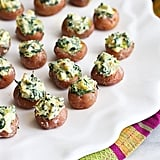 Mini Spinach-Artichoke-Stuffed Potatoes