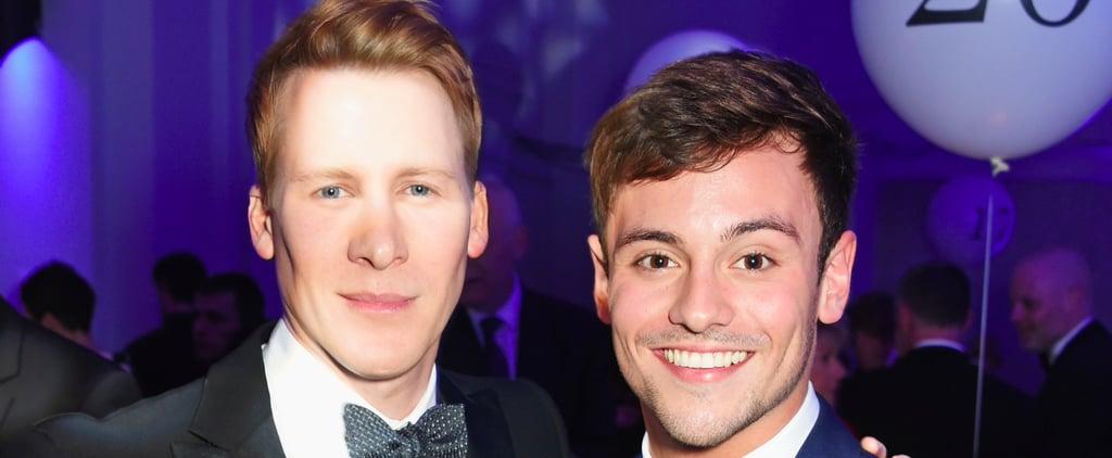 Tom Daley and Dustin Lance Black at LGBT Awards May 2017