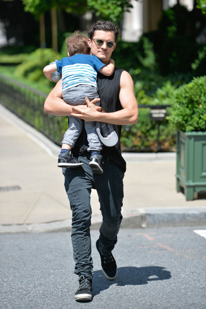 Orlando Bloom Spends the Weekend Playing With Flynn in NYC