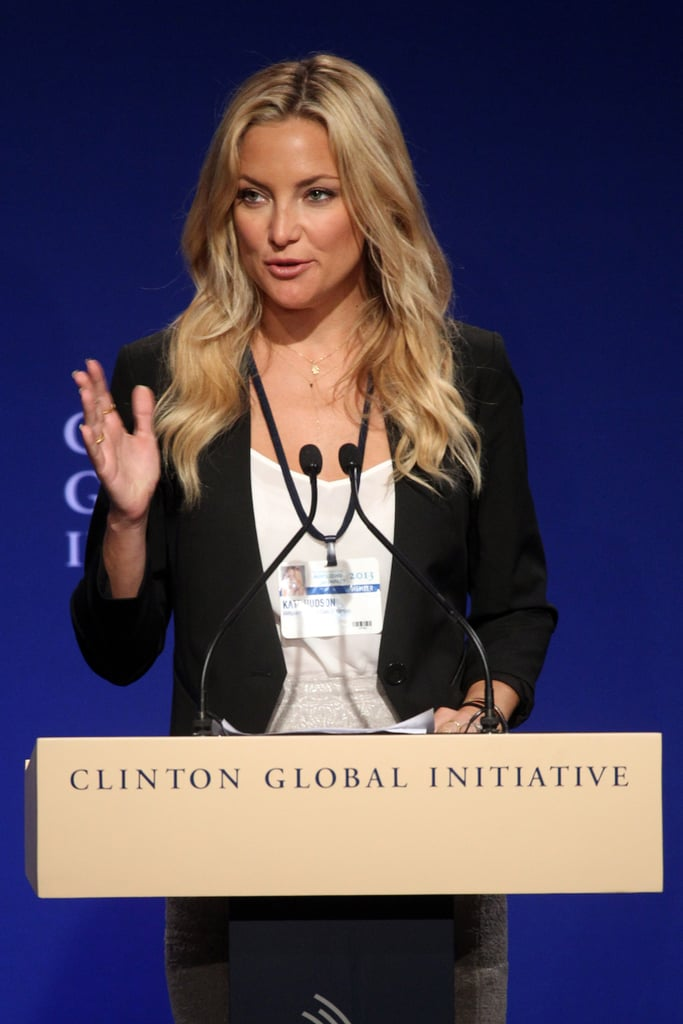 Kate Hudson shared Ann Taylor's efforts to empower women around the world.