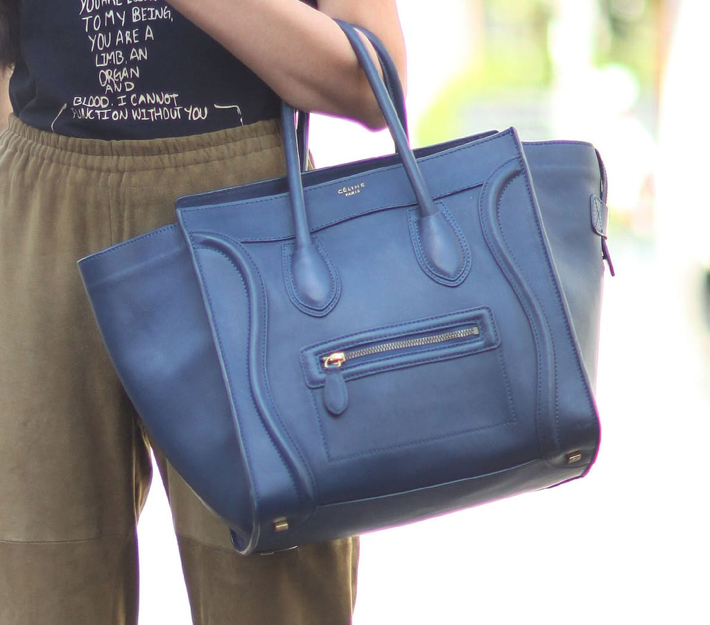 This blue-hued Céline stole the show in this easy look. Source: IMAXtree