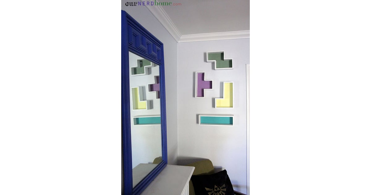 There are lots of online tutorials for how to make Tetris shelves