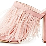 Charlotte Russe Feather Peep Toe Mules