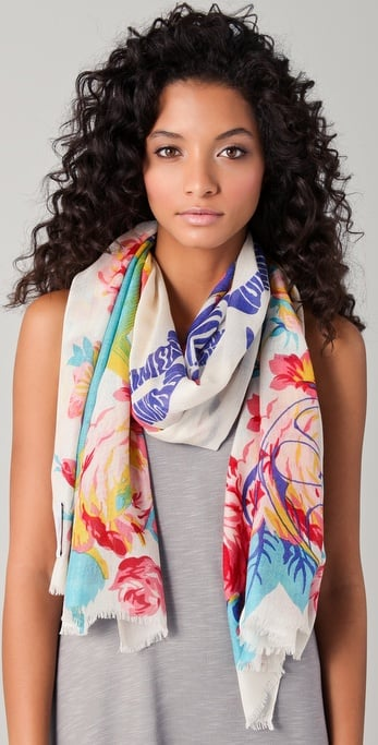 This floral print cashmere scarf is a luxurious splurge — treat yourself!  We Are Owls Floral Cashmere Scarf ($172)