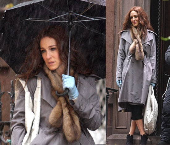 SJP Battles the Elements in NYC While Shooting SatC